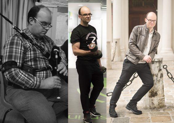 """Links: vorher, und die beiden Bilder rechts zeigen das """"Danach""""."""